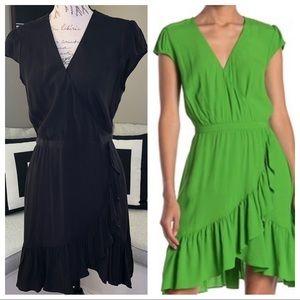 J. Crew Fawn Ruffle Dress. Black.  Size 8